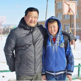Sandag and son, Mongolia