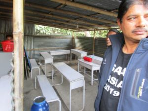 Director Rudra, at the outdoor dining area of one local project